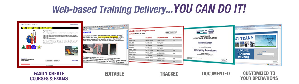 Web based training delivery